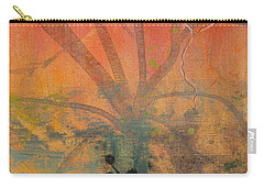 Carry-all Pouch featuring the painting Red Peace Bird by Robin Maria Pedrero