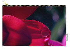 Carry-all Pouch featuring the photograph Red Petal by Mark Greenberg