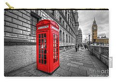 Red Phone Box And Big Ben Carry-all Pouch