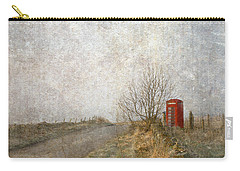 Carry-all Pouch featuring the photograph Red Phone Box by Liz  Alderdice
