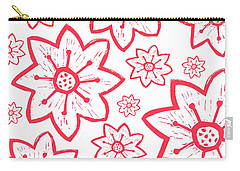 Red Poinsettia Pattern Carry-all Pouch