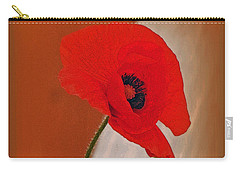 Red Poppy And Buds Carry-all Pouch