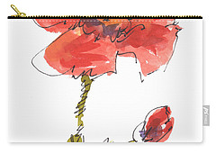 Red Poppy And Pal Carry-all Pouch