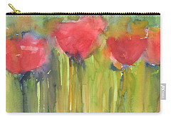 Red Poppy Elegance Carry-all Pouch