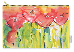 Red Poppy Party Carry-all Pouch