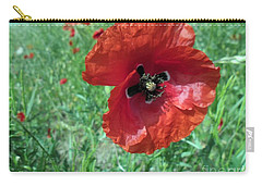 Carry-all Pouch featuring the photograph Red Poppy by Vesna Martinjak
