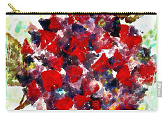 Carry-all Pouch featuring the painting Red Purple Flower by Joan Reese