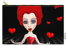 Red Queen Of Hearts Carry-all Pouch