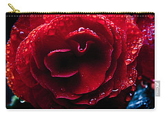Carry-all Pouch featuring the photograph Red Rain by Glenn DiPaola