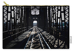 Carry-all Pouch featuring the photograph Red River Rail Road Crossing by Diana Mary Sharpton