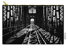 Red River Rail Road Crossing In Bw Carry-all Pouch by Diana Mary Sharpton