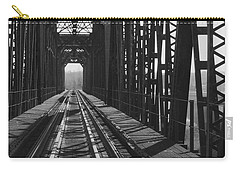 Carry-all Pouch featuring the photograph Red River Train Bridge #3 by Robert ONeil
