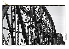 Carry-all Pouch featuring the photograph Red River Train Bridge #4 by Robert ONeil