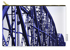 Carry-all Pouch featuring the photograph Red River Train Bridge #5 by Robert ONeil