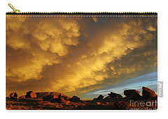 Red Rock Coulee Sunset Carry-all Pouch by Vivian Christopher