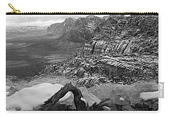 Carry-all Pouch featuring the photograph Red Rock Winter by Alan Socolik