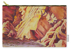Carry-all Pouch featuring the painting Red Rocks by Michele Myers