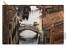 Red Roofs Of Venice Carry-all Pouch by Georgia Mizuleva