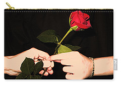 Red Rose By Jan Marvin Studios Carry-all Pouch