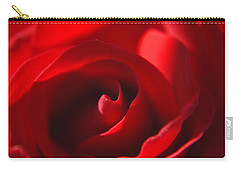 Carry-all Pouch featuring the photograph Red Rose by Tikvah's Hope