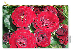 Carry-all Pouch featuring the photograph Red Roses by Vesna Martinjak