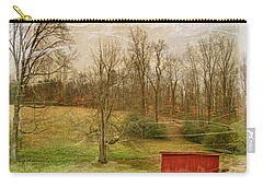 Red Shed Carry-all Pouch by Paulette B Wright
