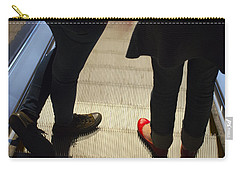 Red Shoe On Escalator Carry-all Pouch