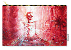 Red Skeleton Meditation Carry-all Pouch