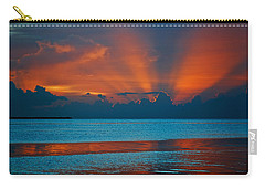 Tropical Florida Keys Red Sky At Night Carry-all Pouch