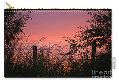 Carry-all Pouch featuring the photograph Red Sky At Night by Liz  Alderdice