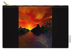 Carry-all Pouch featuring the digital art Red Sky by Kim Prowse