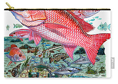 Red Snapper Carry-all Pouch by Carey Chen