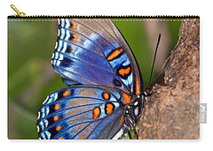 Red Spotted Purple Butterfly Carry-all Pouch by Sandy Keeton