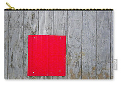 Red Square On A Wall Carry-all Pouch