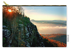 Red Sun Rays On The Lilienstein Carry-all Pouch
