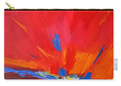 Red Sunset, Modern Abstract Art Carry-all Pouch