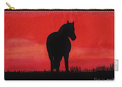 Red Sunset Horse Carry-all Pouch by D Hackett