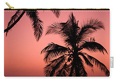 Red Sunset In The Tropics Carry-all Pouch