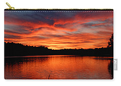 Red Sunset Reflections Carry-all Pouch by Denyse Duhaime