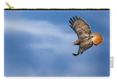 Red Tailed Hawk Soaring Carry-all Pouch by Bill Wakeley