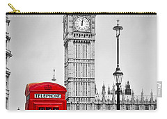 Red Telephone Booth And Big Ben In London Carry-all Pouch by Michal Bednarek