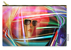 Carry-all Pouch featuring the digital art Red Thoughts by Rosa Cobos