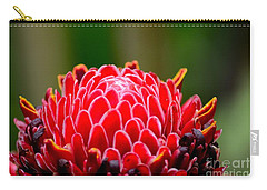 Red Torch Ginger Flower Head From Tropics Singapore Carry-all Pouch