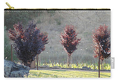 Carry-all Pouch featuring the photograph Red Tree's by Shawn Marlow