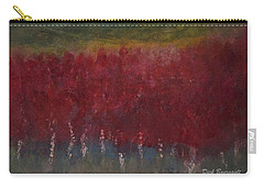 Red Trees Watercolor Carry-all Pouch