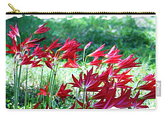 Red Trumpets Carry-all Pouch by Ellen O'Reilly
