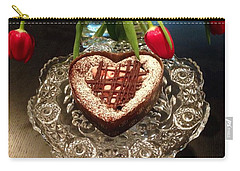 Red Tulip And Chocolate Heart Dessert Carry-all Pouch