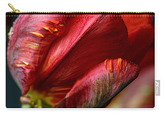 Red Tulip With Dew Carry-all Pouch