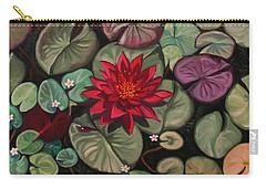 Red Water Lilies Carry-all Pouch