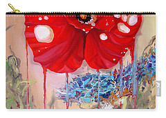 Carry-all Pouch featuring the painting Red Weed Red Poppy by Daniel Janda